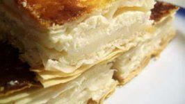 Reteta Plăcintă din aluat franţuzesc cu brînză sau fructe