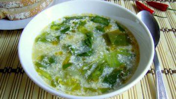 ciorba salata verde si praz