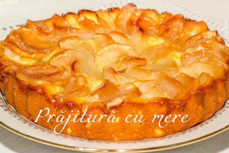 prajitura cu mere cu o cana de iaurt