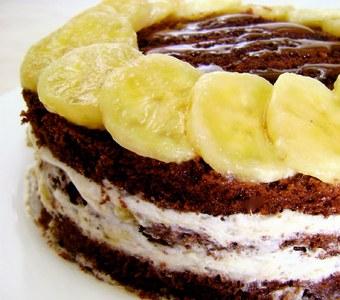 Reteta de tort cu banane si ciocolata